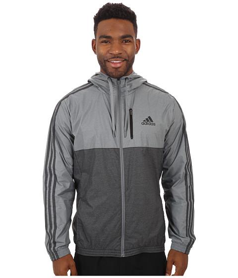 adidas - Essential 3S Woven Jacket (Vista Grey/Black) Men