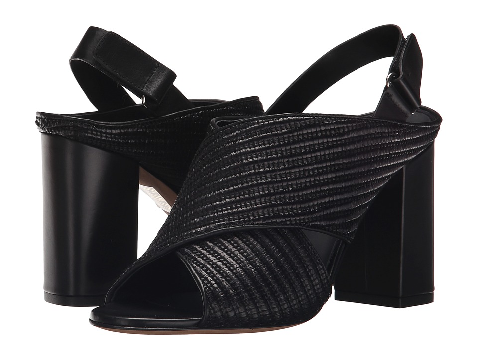 Vince - Faine (Black Woven Jute/Calf) Women's Sandals