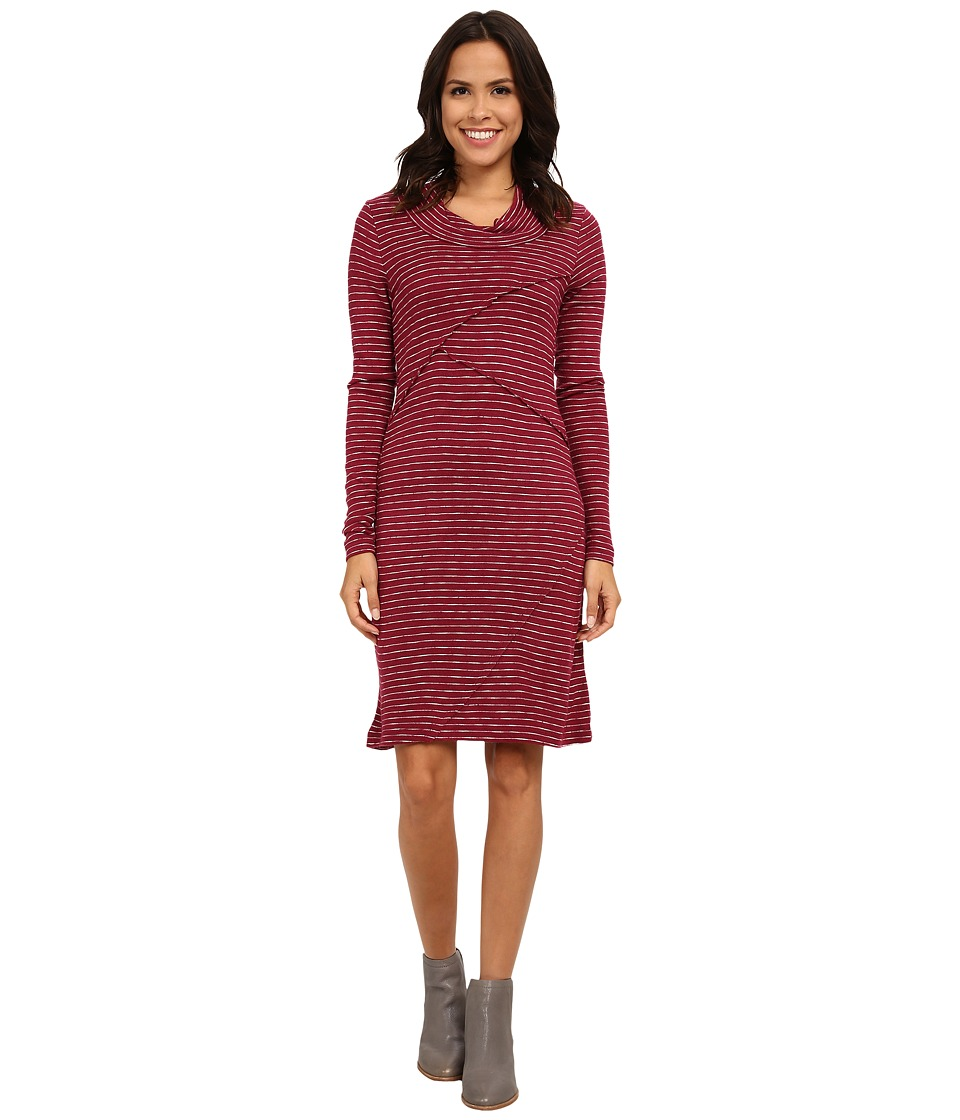 Mod-o-doc - Twisted Collar Seamed Dress (Vino) Women's Dress