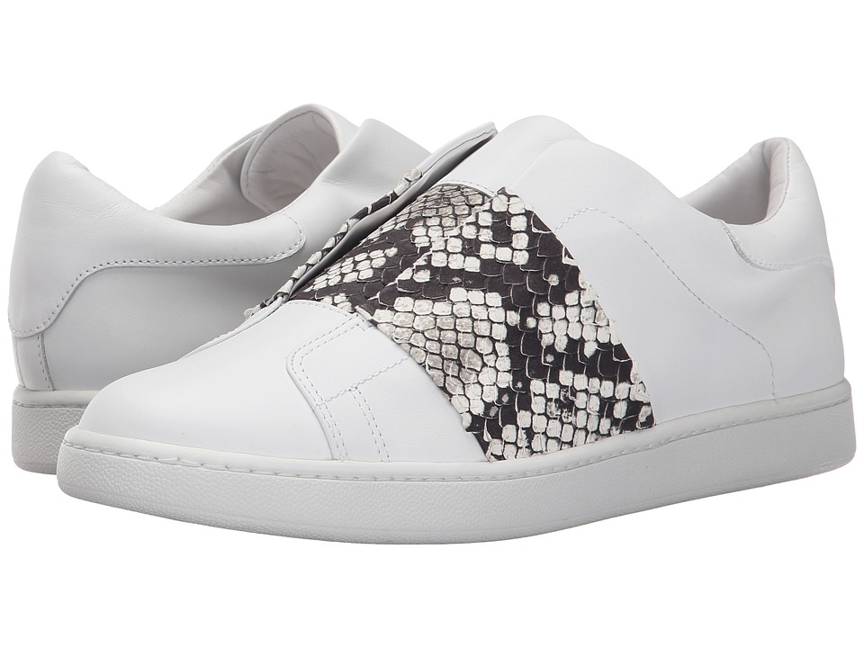 Vince - Vista (Plaster Macho Calf Light/Black/White Python Print) Women's Slip on Shoes