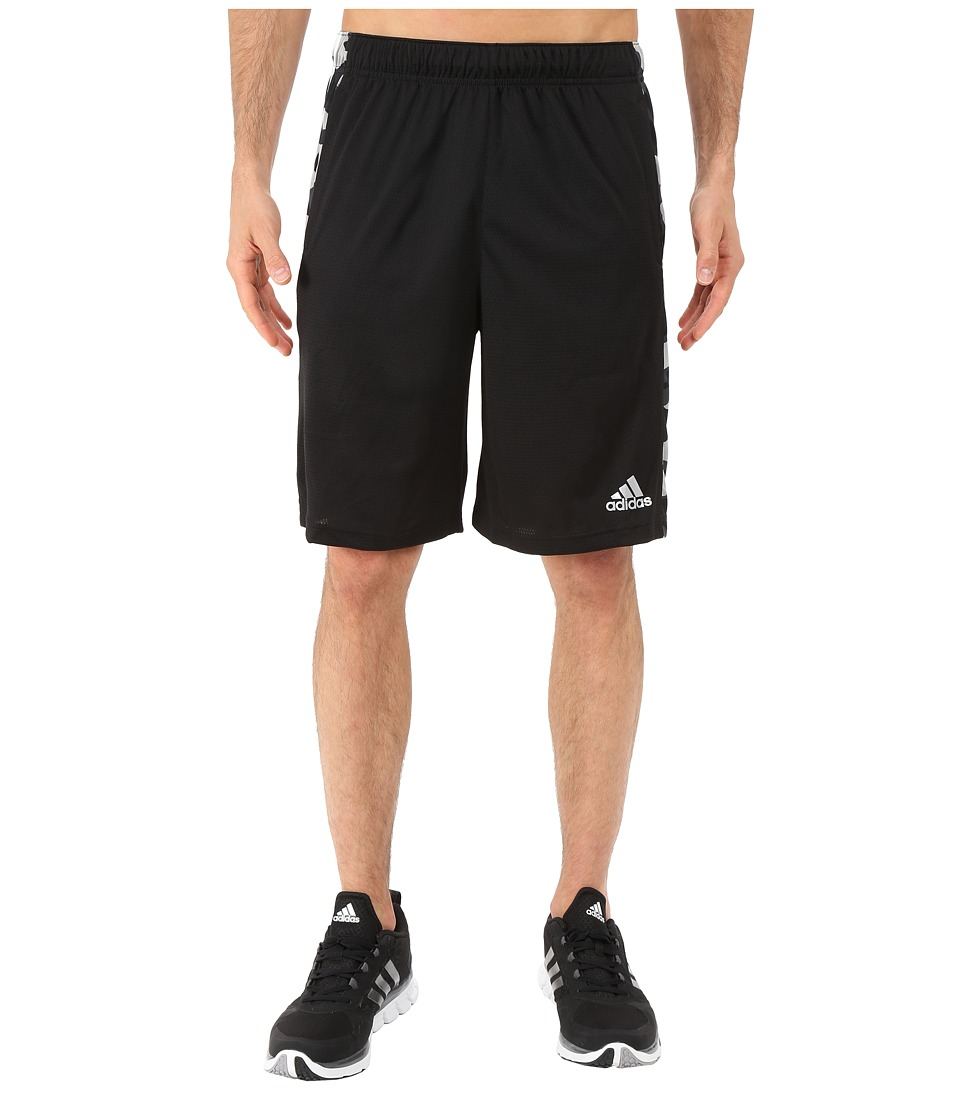 adidas - Essential 3S Camo Shorts (Black/MGH Solid Grey/White) Men's Shorts
