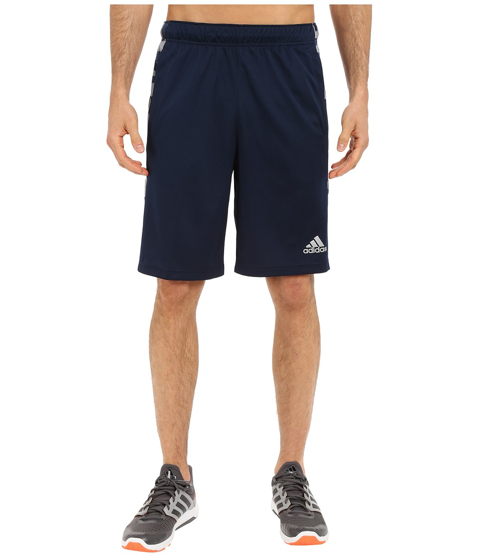adidas - Essential 3S Camo Shorts (Collegiate Navy/Grey/Collegiate Navy) Men