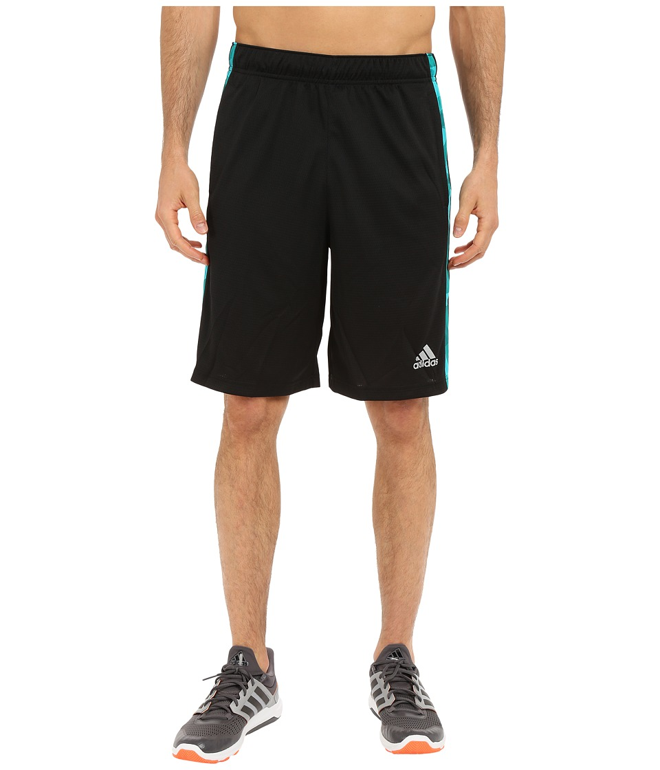 adidas - Essential 3S Camo Shorts (Black/EQT Green/Black) Men