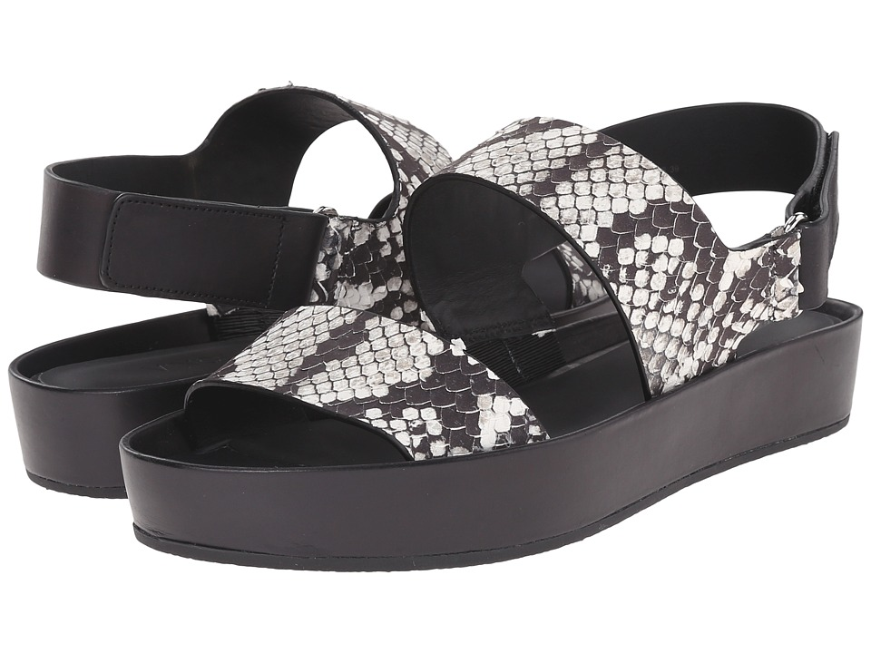 Vince - Marett (Black/White Python Print/Calf) Women's Shoes