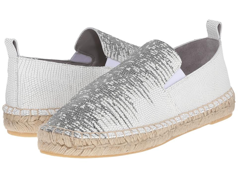 Vince - Robin (White/Black Ring Dune Lizard Print) Women's Slip on Shoes