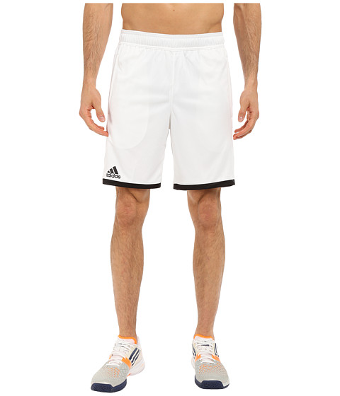 adidas - Court Shorts (White/Black) Men's Shorts