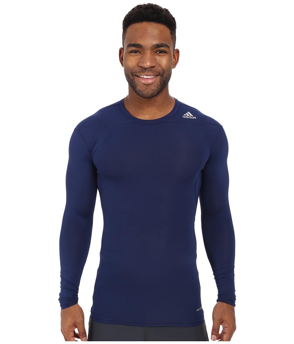 adidas - Techfit Base Long Sleeve (Dark Blue) Men's Clothing
