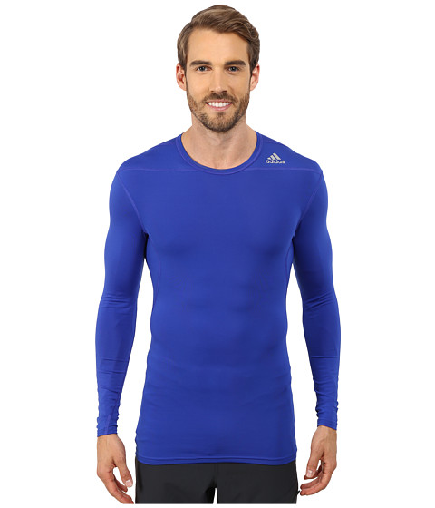 adidas - Techfit Base Long Sleeve (Bold Blue) Men