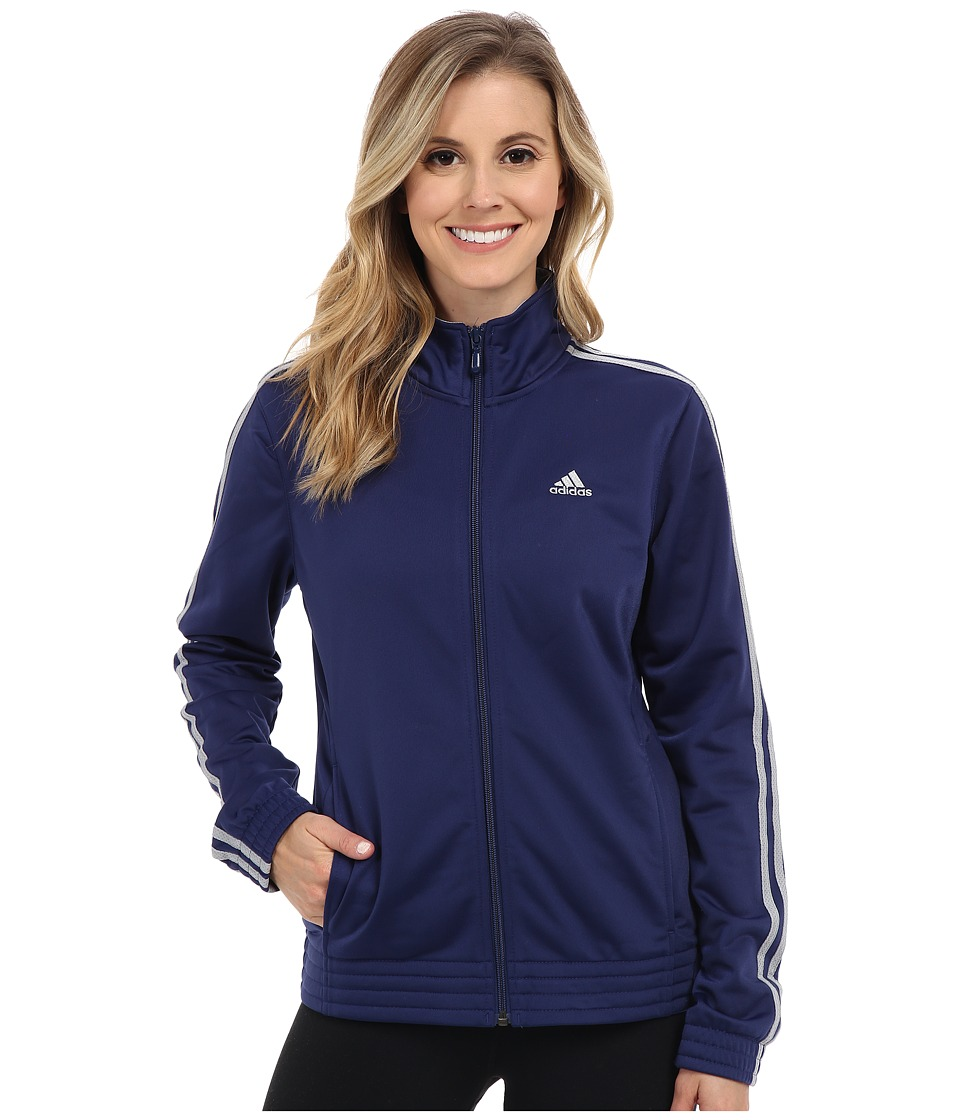adidas - 3-Stripes Jacket (Midnight Indigo/Light Grey Heather) Women's Coat