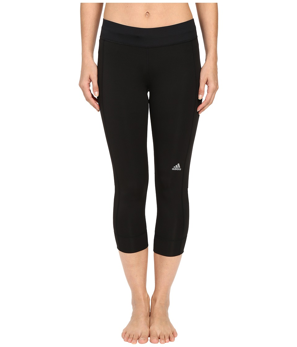adidas - Sequencials Run 3/4 Tights (Black) Women's Workout