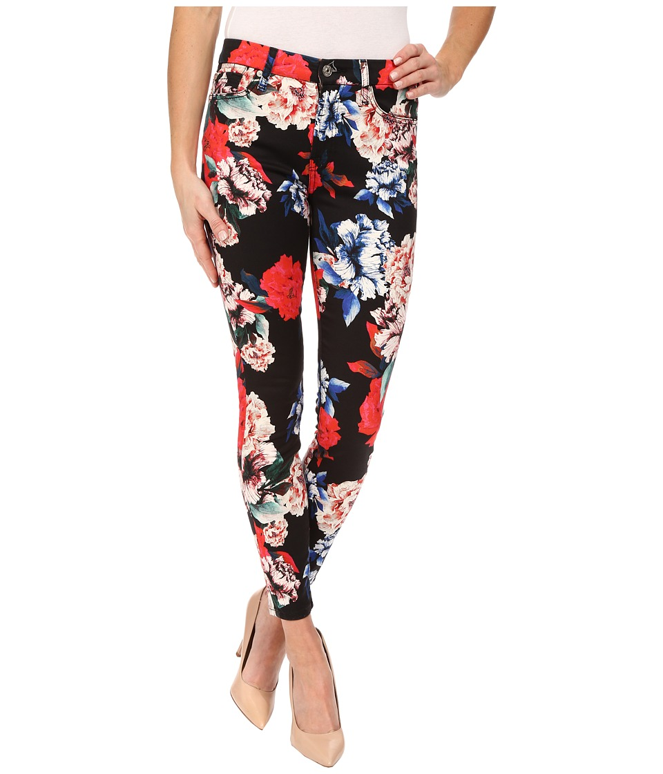 7 For All Mankind - The Mid Rise Ankle Skinny in Peony Floral (Peony Floral) Women's Jeans