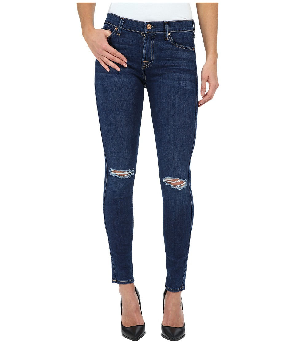 7 For All Mankind The Ankle Skinny w/ Knee Holes in Slim Illusion Stunning Seville 2 (Slim Illusion Stunning Seville 2) Women
