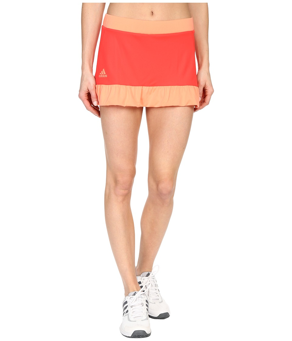 adidas - Court Skort (Shock Red/Sun Glow) Women's Skort