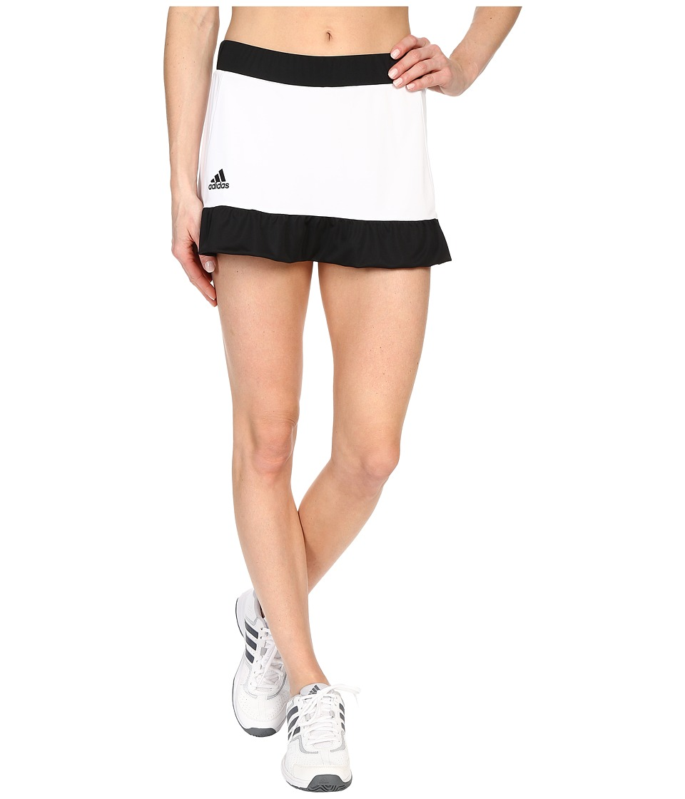 adidas - Court Skort (White/Black) Women's Skort