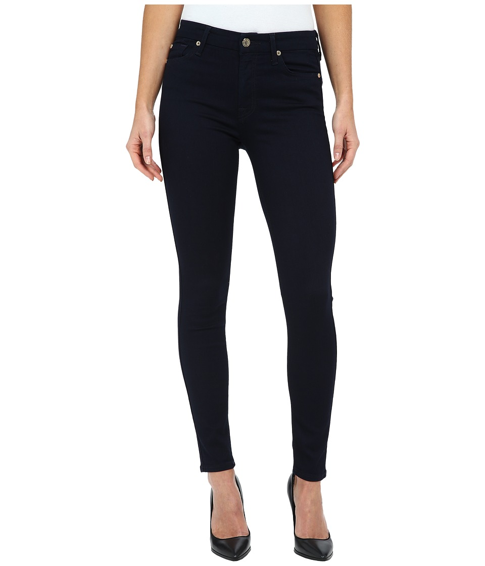 7 For All Mankind - The Mid Rise Ankle Skinny in Slim Illusion Luxe/Rinse (Slim Illusion Luxe/Rinse) Women's Jeans