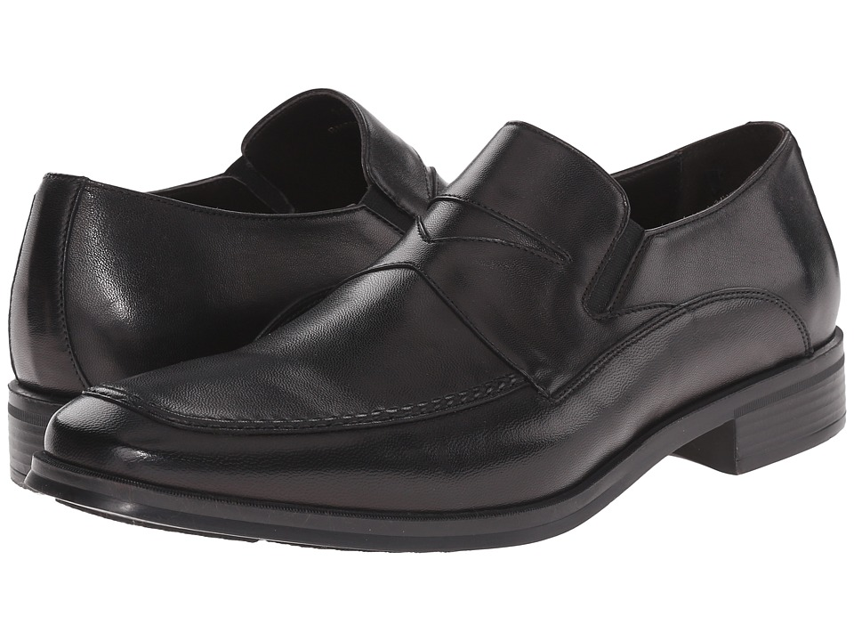 Bruno Magli - Primo (Black Leather) Men's Slip on Shoes