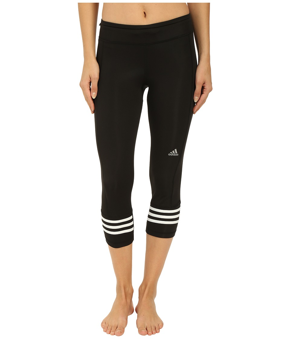 adidas - Response 3/4 Tights (Black/White) Women's Workout