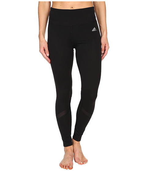 adidas - Clima Studio High Rise Long Tights (Black/Matte Silver) Women