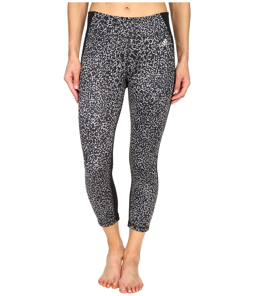 adidas - Clima Studio Mid Rise 3/4 Animal Print Tights (DGH Solid Grey/Print/Black/Matte Silver) Women's Workout