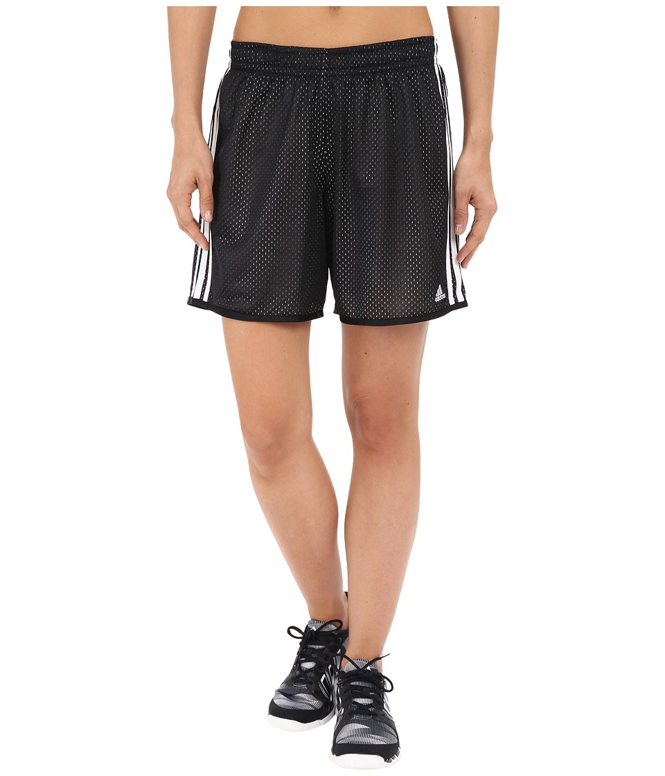 adidas - On Court Mesh Shorts (Black/White) Women's Shorts