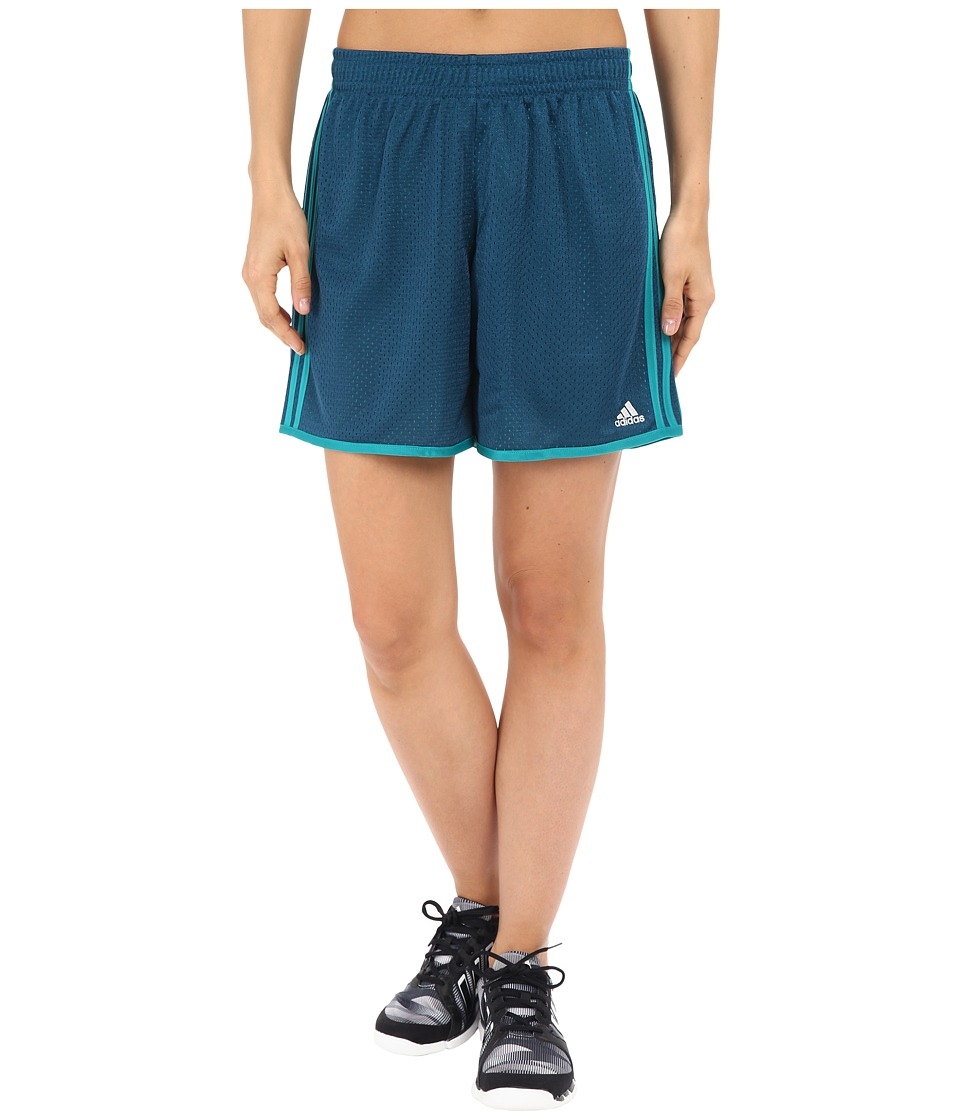 adidas - On Court Mesh Shorts (Mineral/EQT Green) Women's Shorts