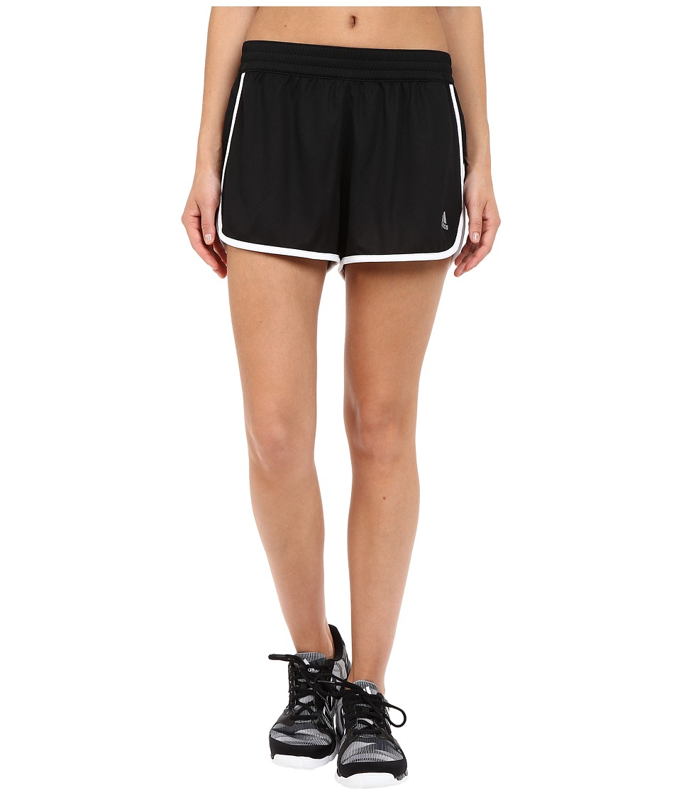 adidas - 100M Dash Knit Shorts (Black/White/Matte Silver) Women's Shorts