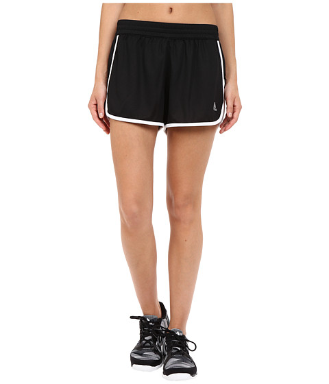 adidas - 100M Dash Knit Shorts (Black/White/Matte Silver) Women