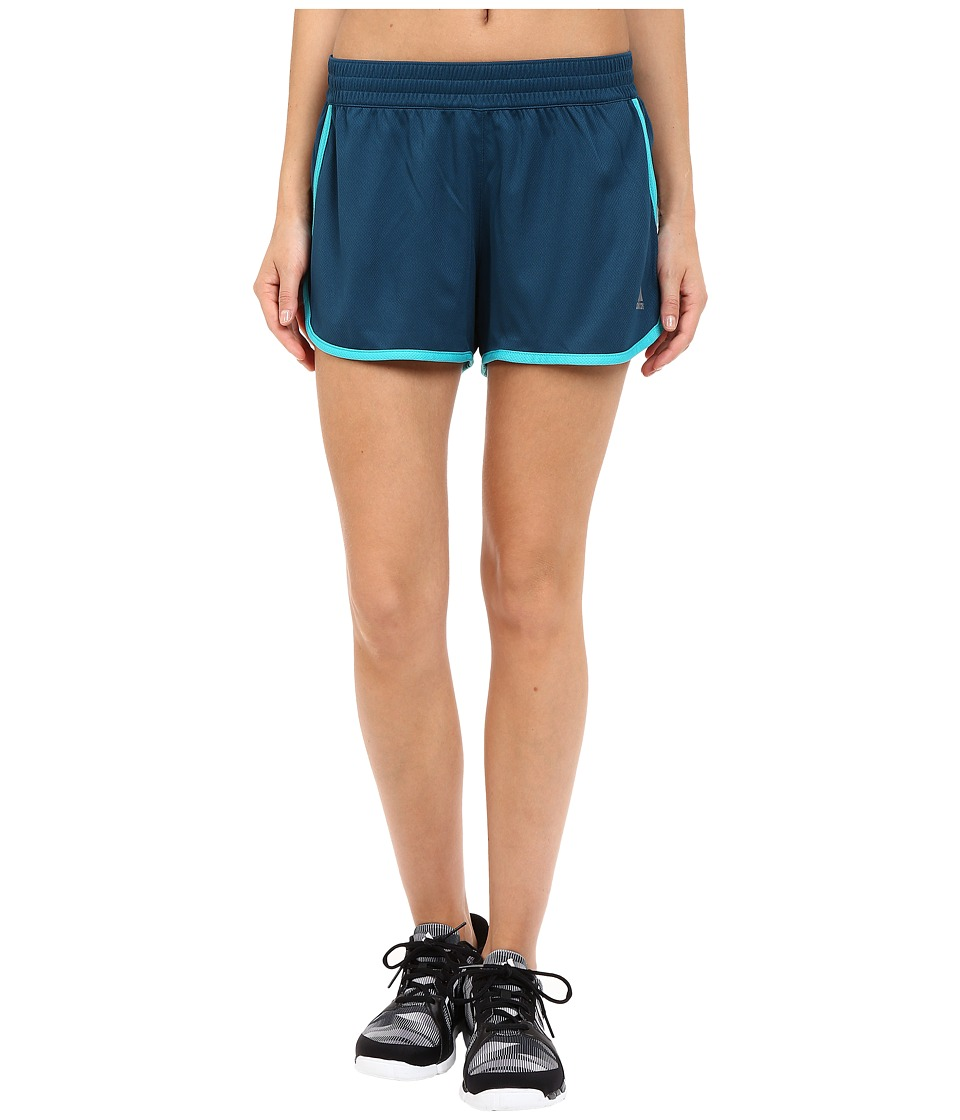 adidas - 100M Dash Knit Shorts (Mineral/Shock Green) Women