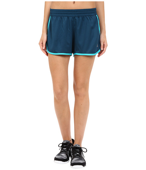 adidas - 100M Dash Knit Shorts (Mineral/Shock Green) Women's Shorts