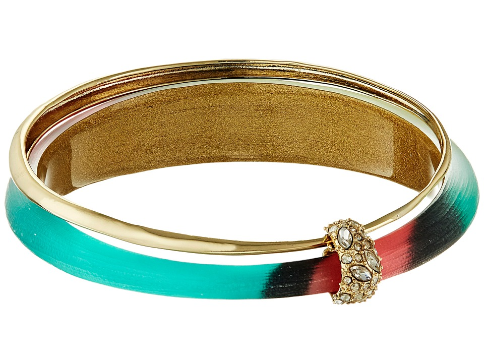 Alexis Bittar - Orbiting Bangle w/ Crystal Accents (Silk Mosaic) Bracelet