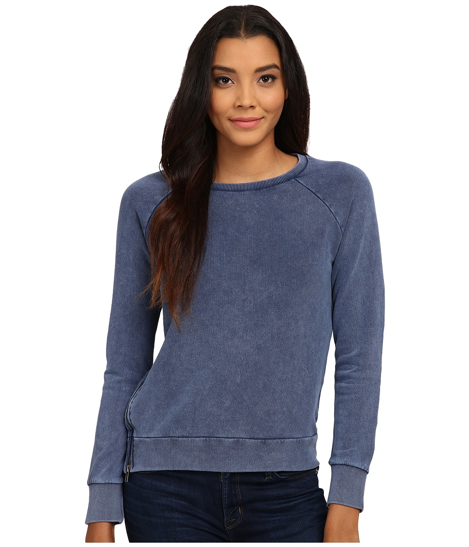 Mavi Jeans - Zipped Detailed Sweatshirt (Blue) Women's Sweatshirt