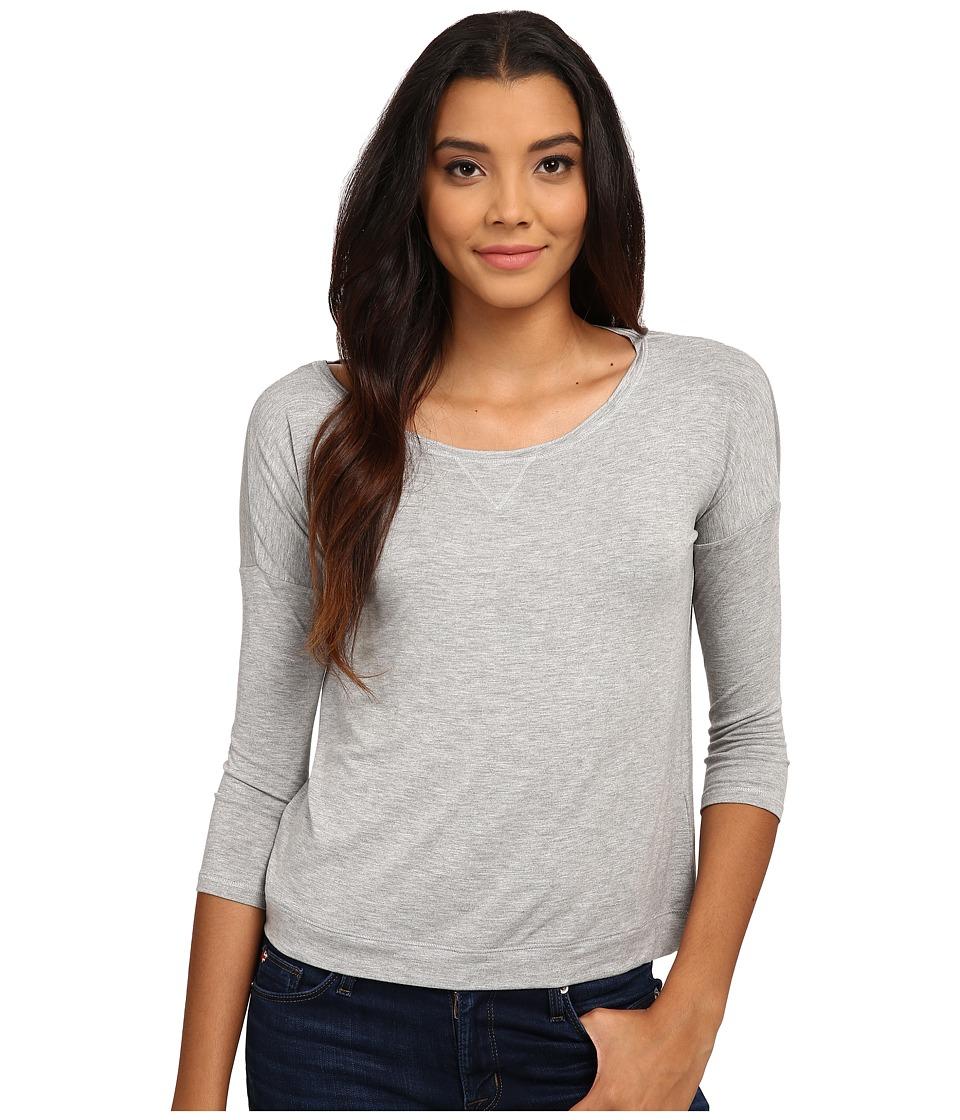 Mavi Jeans - Long Sleeve T-Shirt (Grey) Women's T Shirt