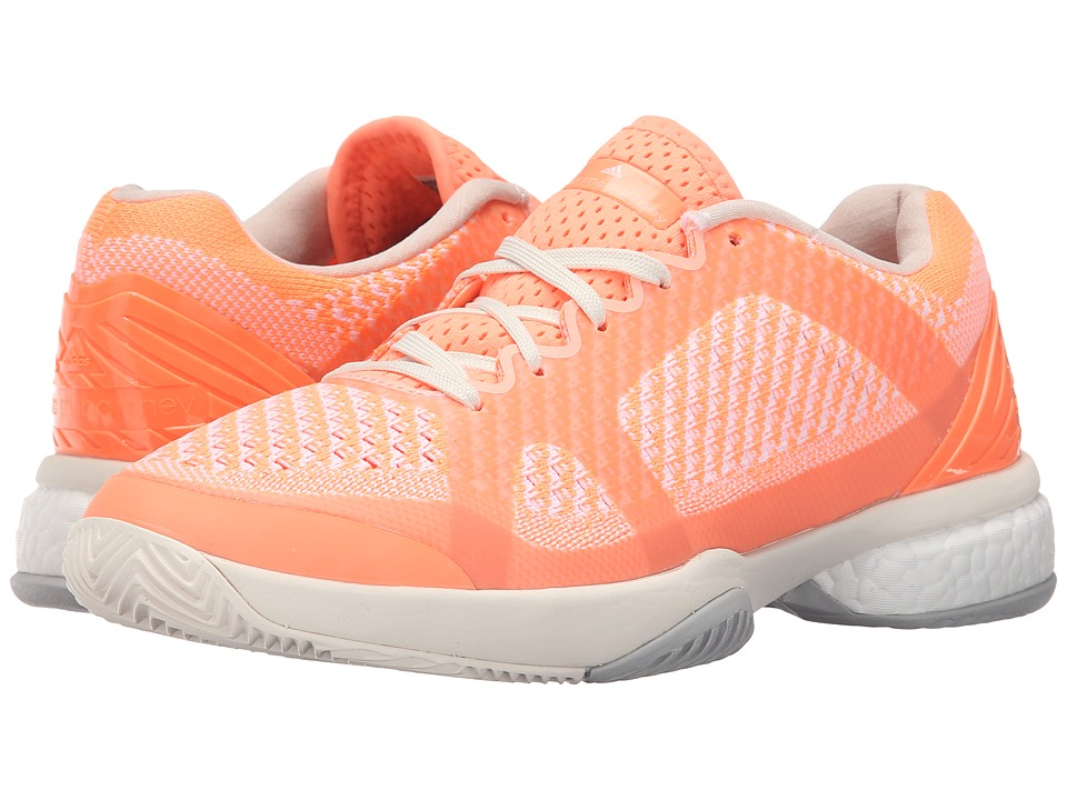 adidas by Stella McCartney - Stella Barricade Boost (Ultra Bright/Chalk What/Light Flash Orange) Women's Running Shoes