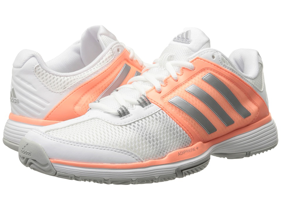 adidas - Barricade Club (White/Matte Silver/Sun Glow) Women's Shoes