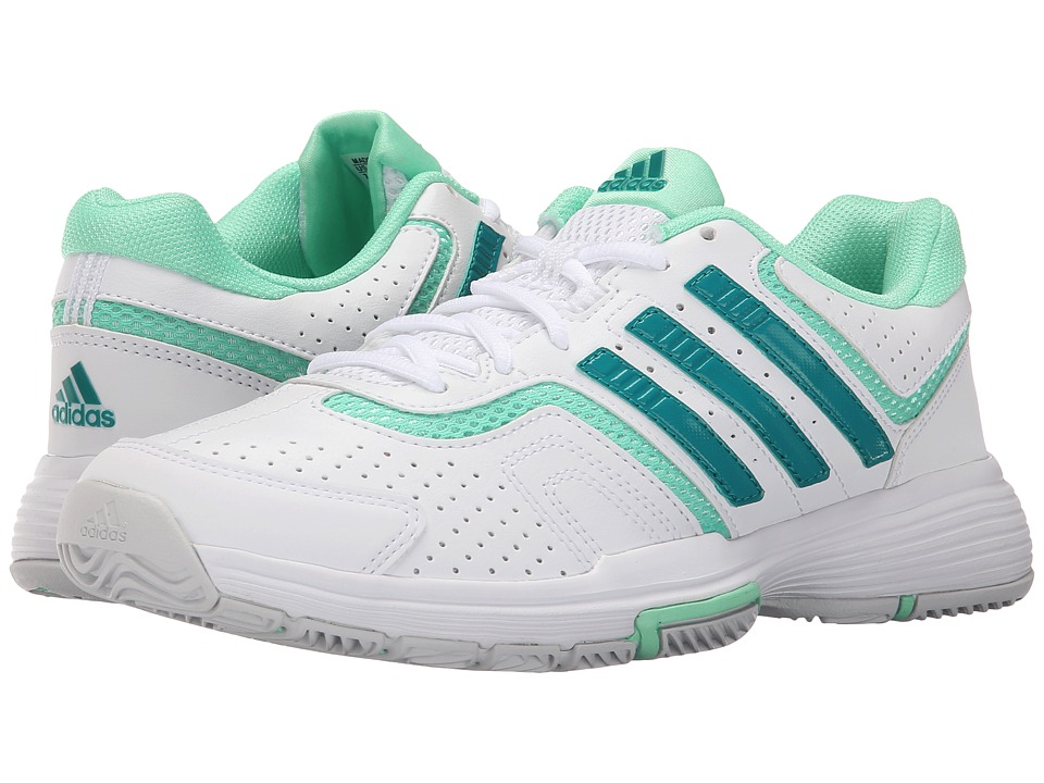 adidas - Barricade Court 2 (White/EQT Green/Green Glow) Women's Shoes