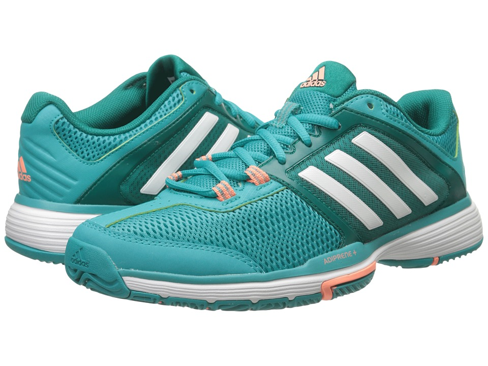 adidas - Barricade Club (Green/White/EQT Green) Women's Shoes