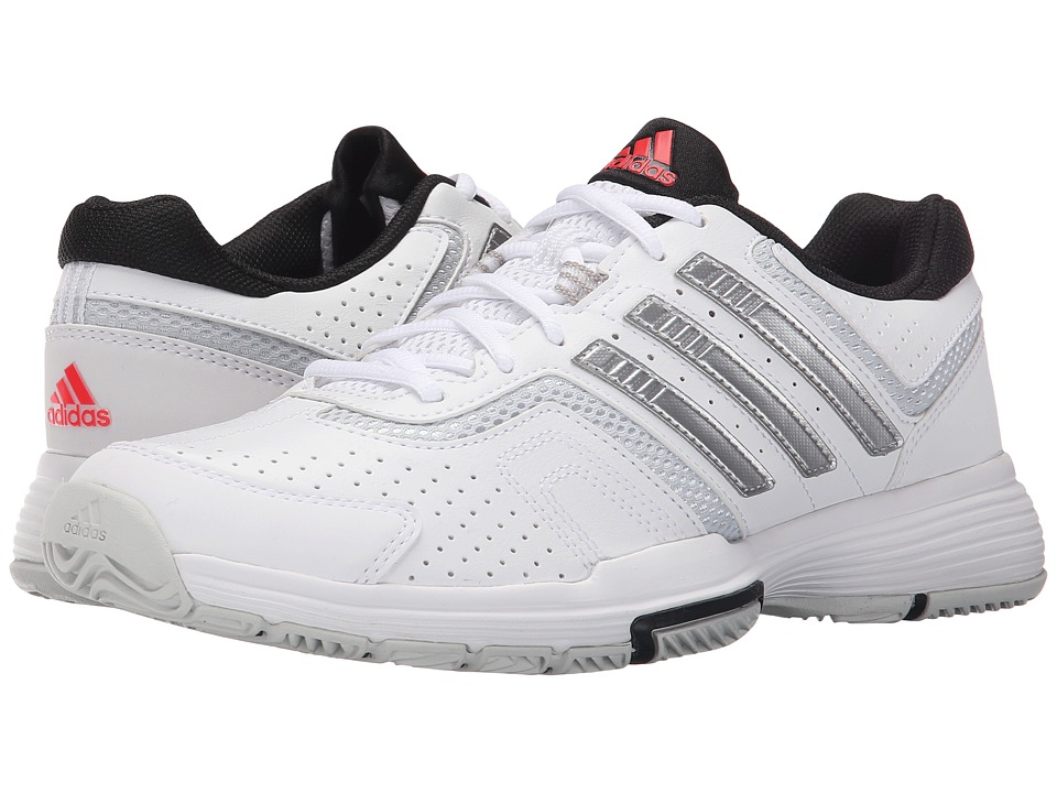adidas - Barricade Court 2 (White/Matte Silver/Black) Women's Shoes