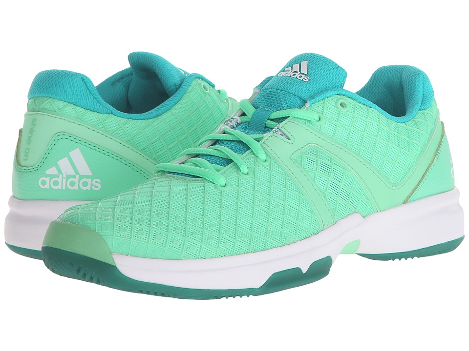 adidas - Sonic Allegra (Green Glow/Silver Metallic/White) Women's Shoes