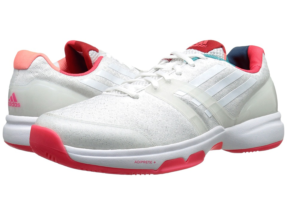 adidas - Adizero Ubersonic (White/Shock Red) Women's Cross Training Shoes
