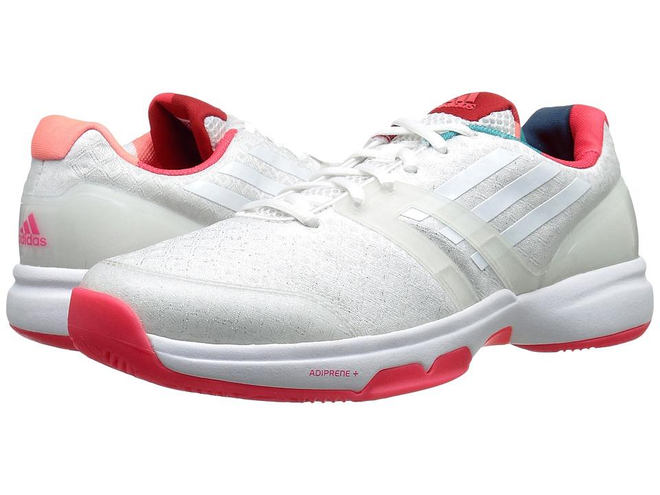 adidas - Adizero Ubersonic (White/Shock Red) Women's Cross Training Shoes