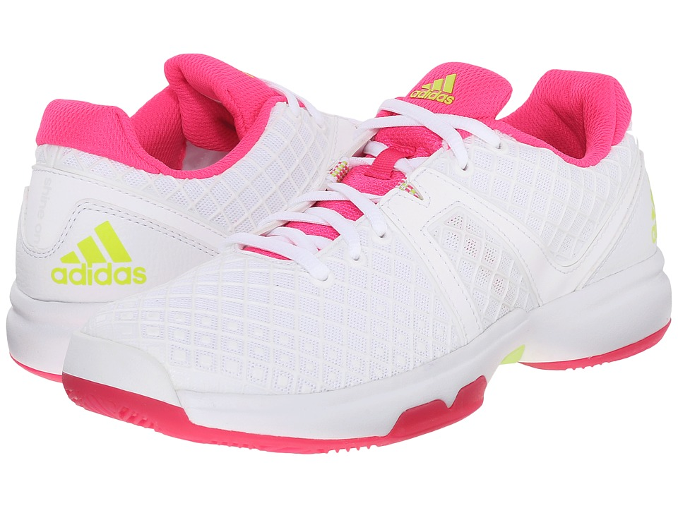 adidas - Sonic Allegra (White/Semi Solar Slime/Shock Pink) Women's Shoes