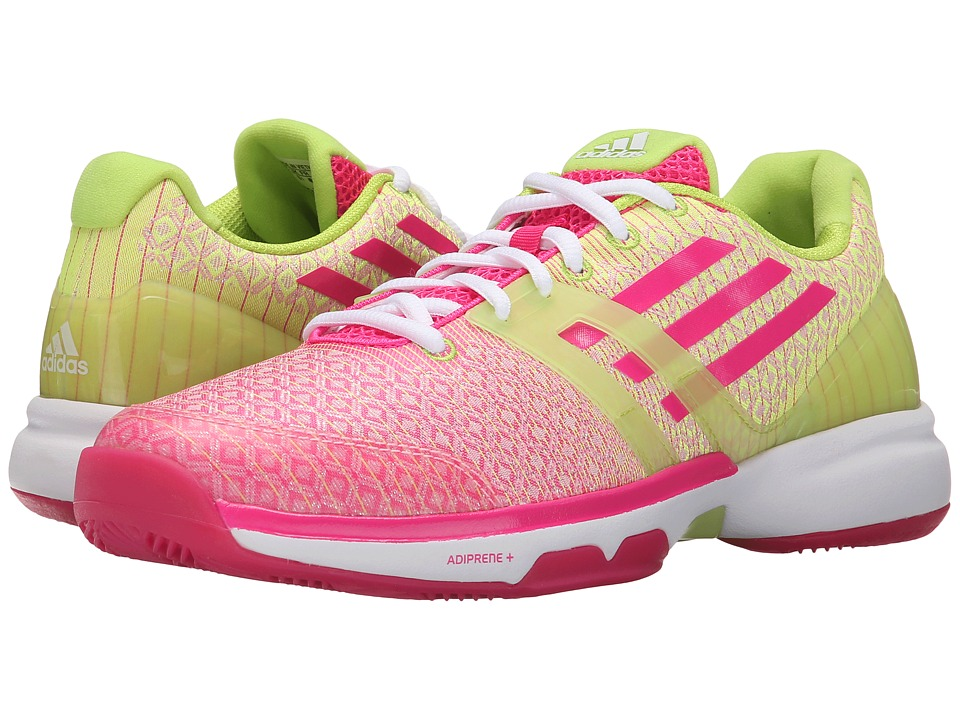 adidas - Adizero bersonic (Shock Pink/White/Semi Solar Slime) Women's Cross Training Shoes
