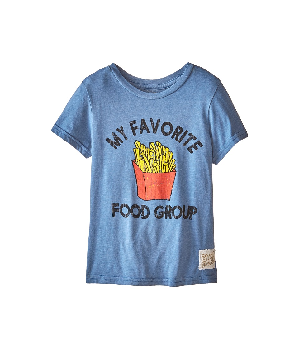 The Original Retro Brand Kids - Favorite Food Group Short Sleeve Tee (Little Kids/Big Kids) (Heather Blue) Boy