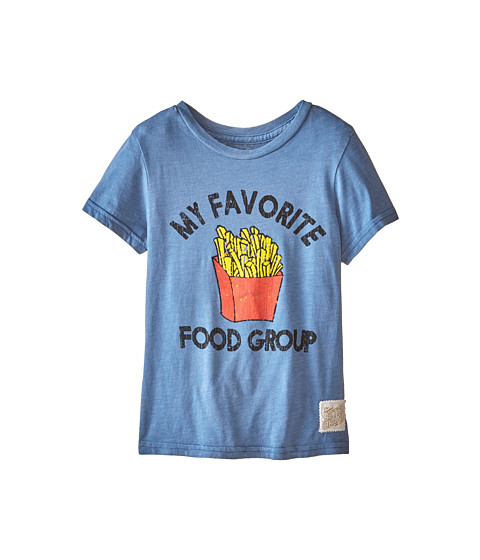 The Original Retro Brand Kids - Favorite Food Group Short Sleeve Tee (Little Kids/Big Kids) (Heather Blue) Boy's T Shirt