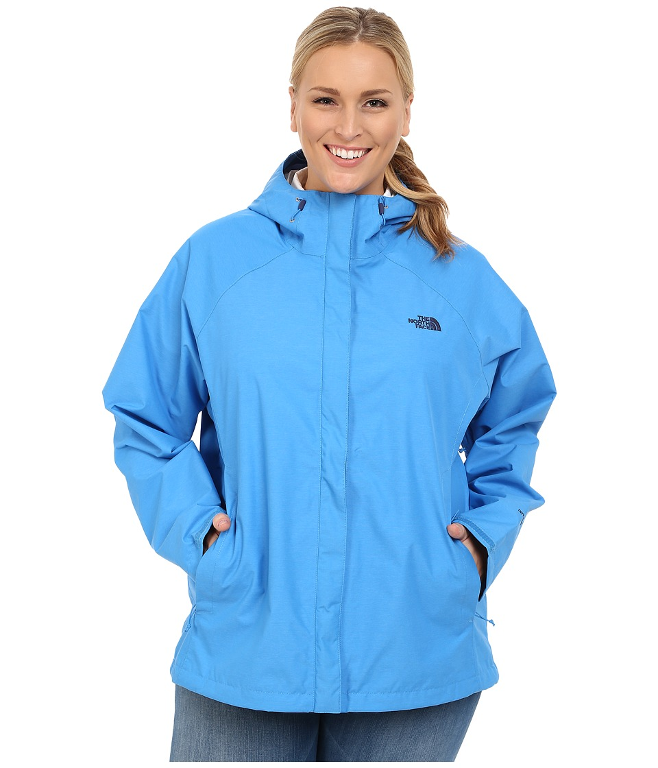The North Face - Venture Jacket (Clear Lake Blue Heather) Women's Coat