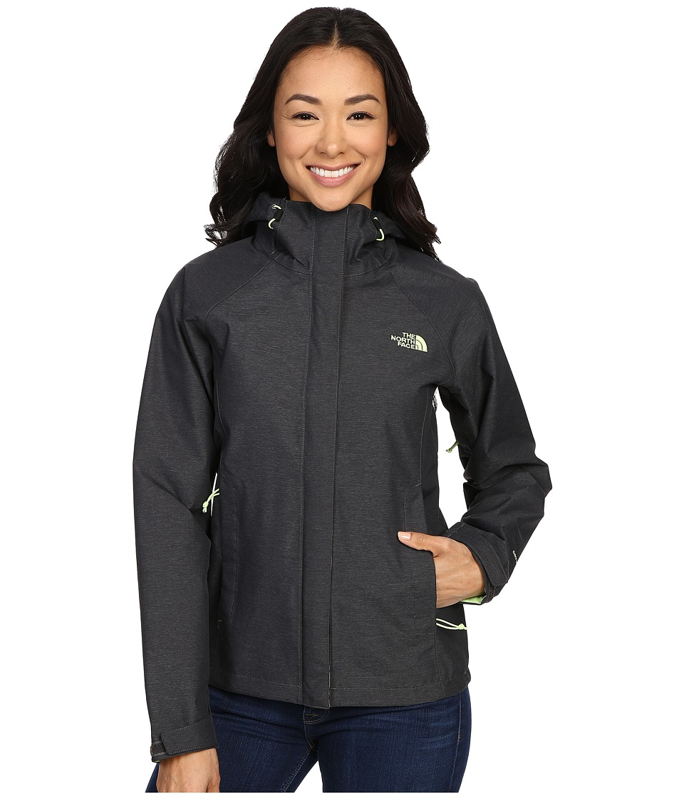 The North Face - Venture Jacket (TNF Dark Grey Heather/Budding Green) Women's Coat
