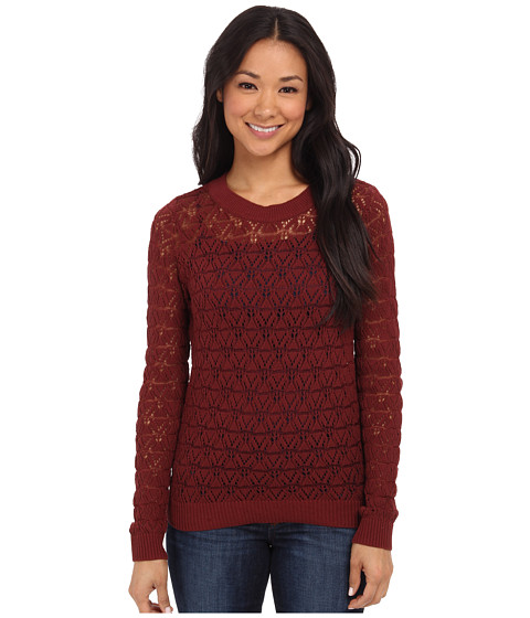 Anne Klein - Crew Neck Long Sleeve Pullover (Hickory) Women