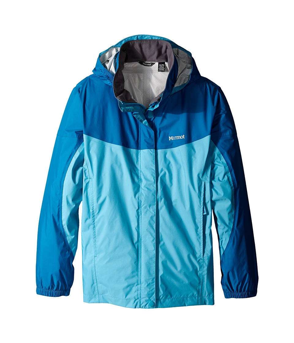 Marmot Kids - Girl's PreCip Jacket (Little Kids/Big Kids) (Light Aqua/Aqua Blue) Girl's Coat