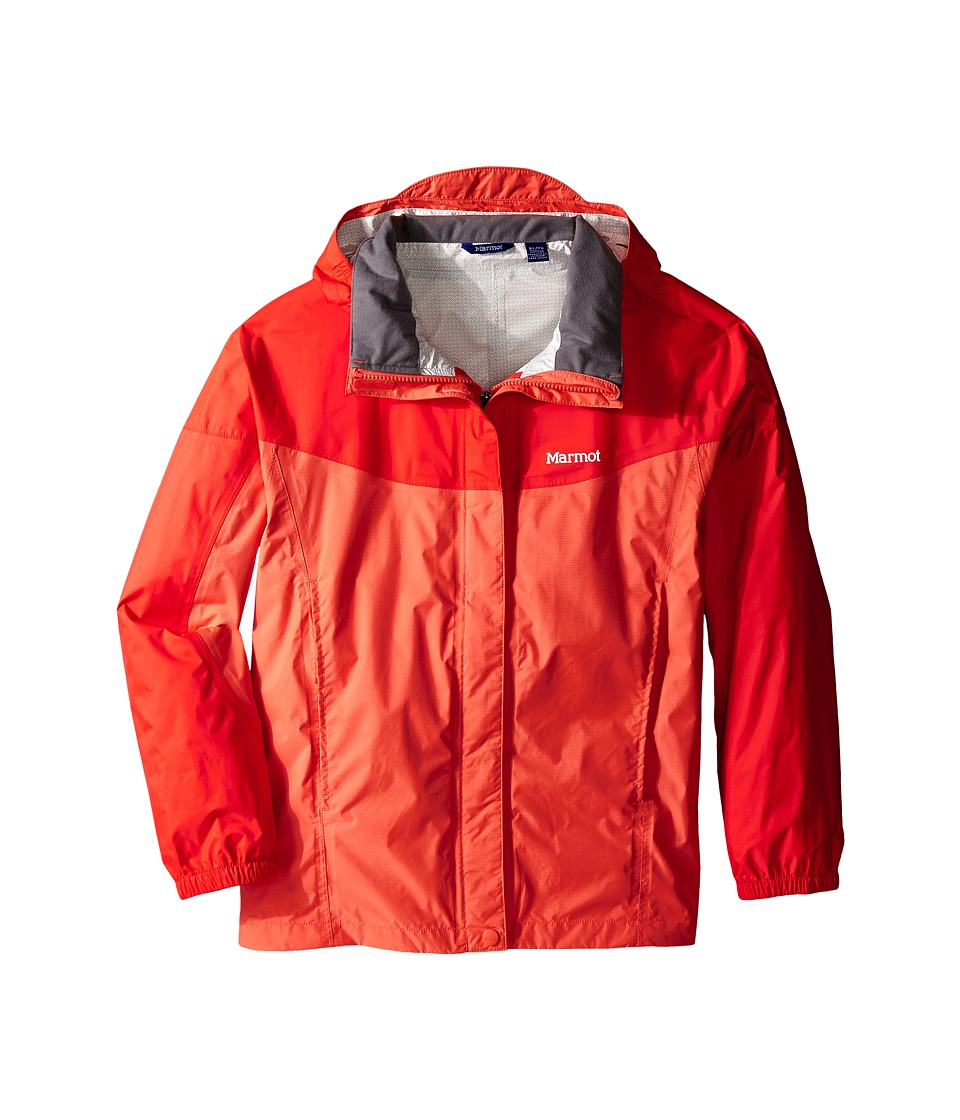 Marmot Kids - Girl's PreCip Jacket (Little Kids/Big Kids) (Emberglow/Red Apple) Girl's Coat