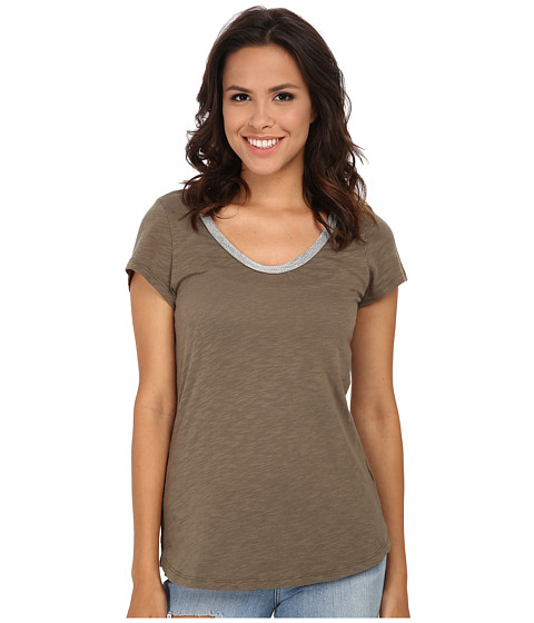 Dylan by True Grit - Vintage Bead Short Sleeve Tee (Cargo) Women